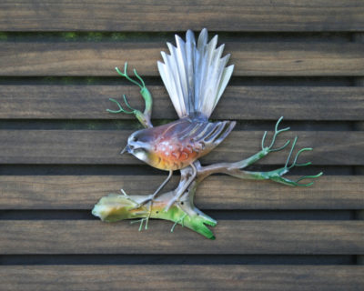 Small Fantail On Branch