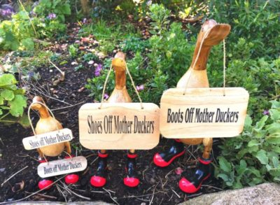 Duck Signs – Boots/Shoes Off…